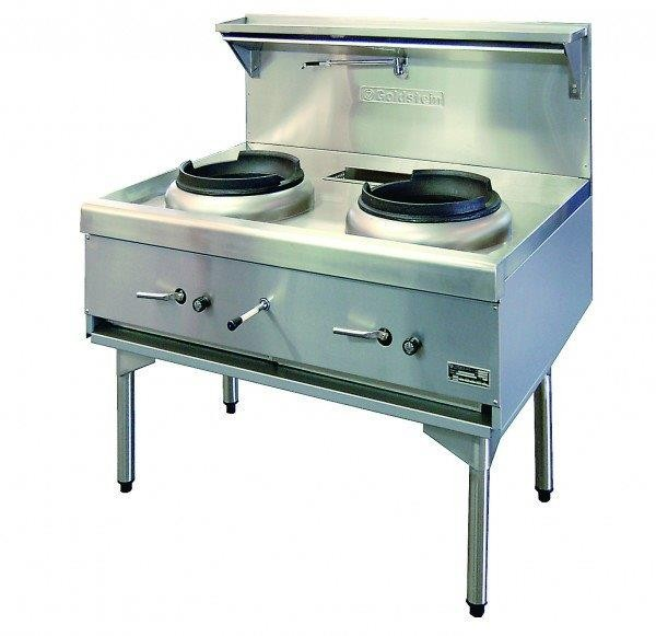 Image of Goldstein CWA2 Wok Cooker Waterless 2 Hole *Nat Gas*