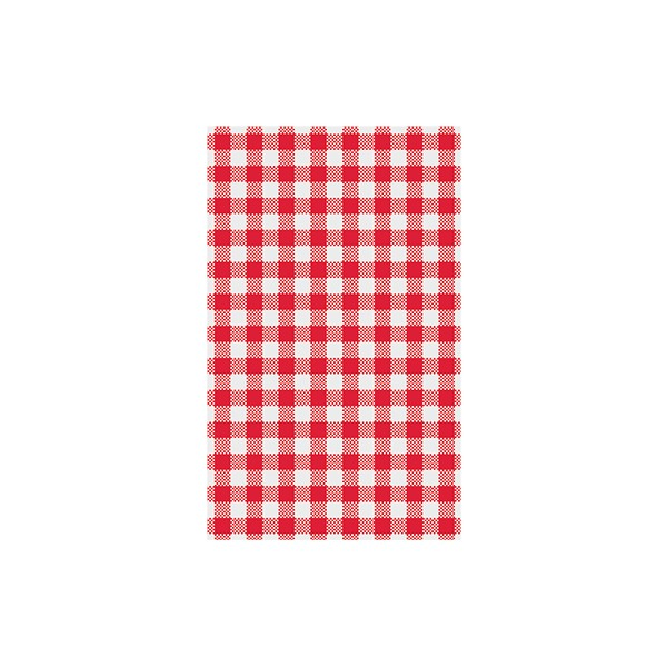 Greaseproof Paper Gingham Red Check 190 x 310mm