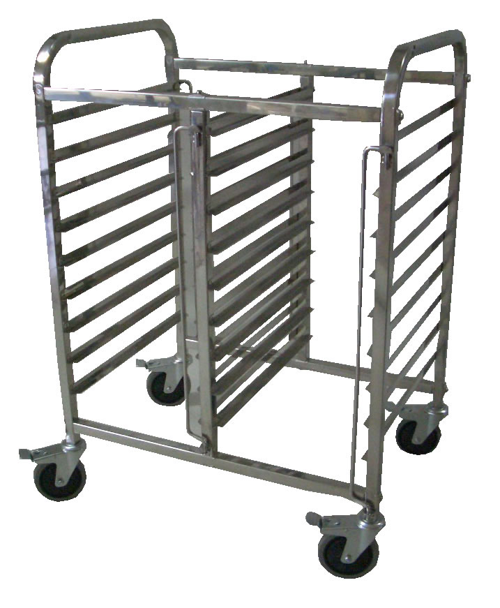 Mantova 0287HALFN Gastronorm Trolley Double Half Height 18 Tray