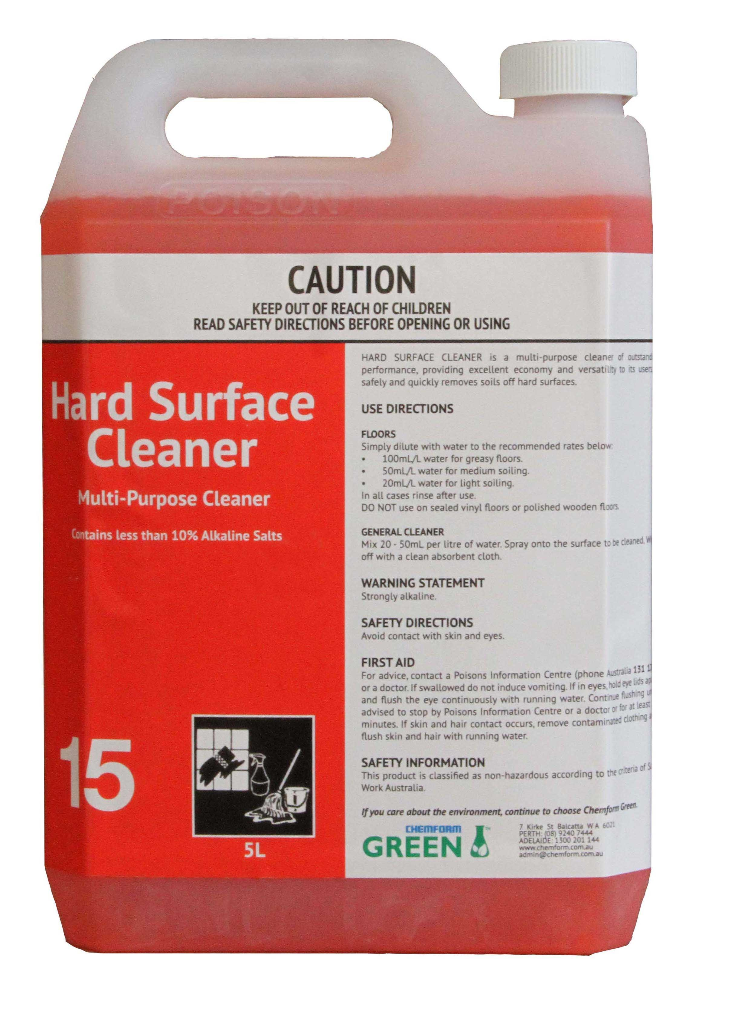 Hard Surface Cleaner #15 5ltr