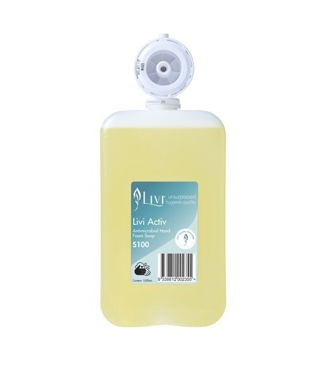 Livi S100 Activ Antimicrobial Hand Foam Soap