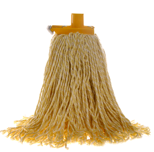 Mop Premium Commercial With Plastic Ferrule 400gm Yellow
