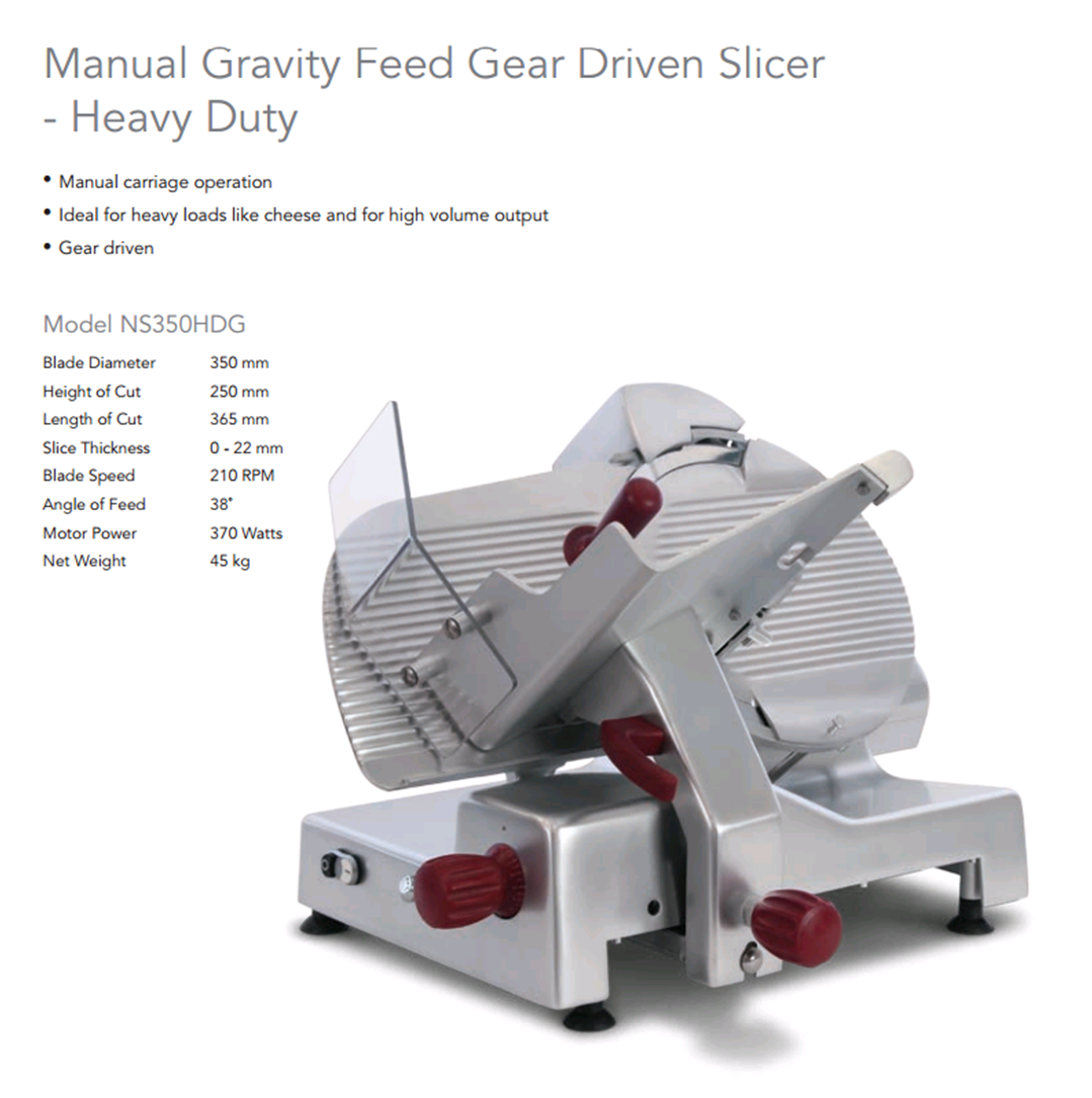 Image of Roband Noaw NS350HDG Slicer 350mm H.D. Gear Driven