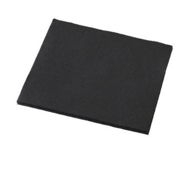Dinner Napkin QTR Fold Quilted Black