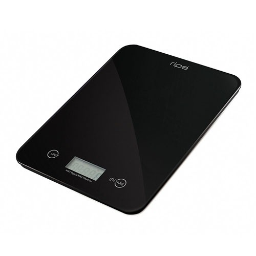 Ripe Kitchen Scale Black 10kg 1gm Graduation