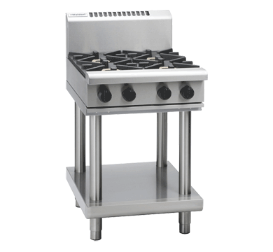 Image of Waldorf 800 Series RN8400G-LS Cooktop 4 Burner With Leg Stand *Nat Gas*