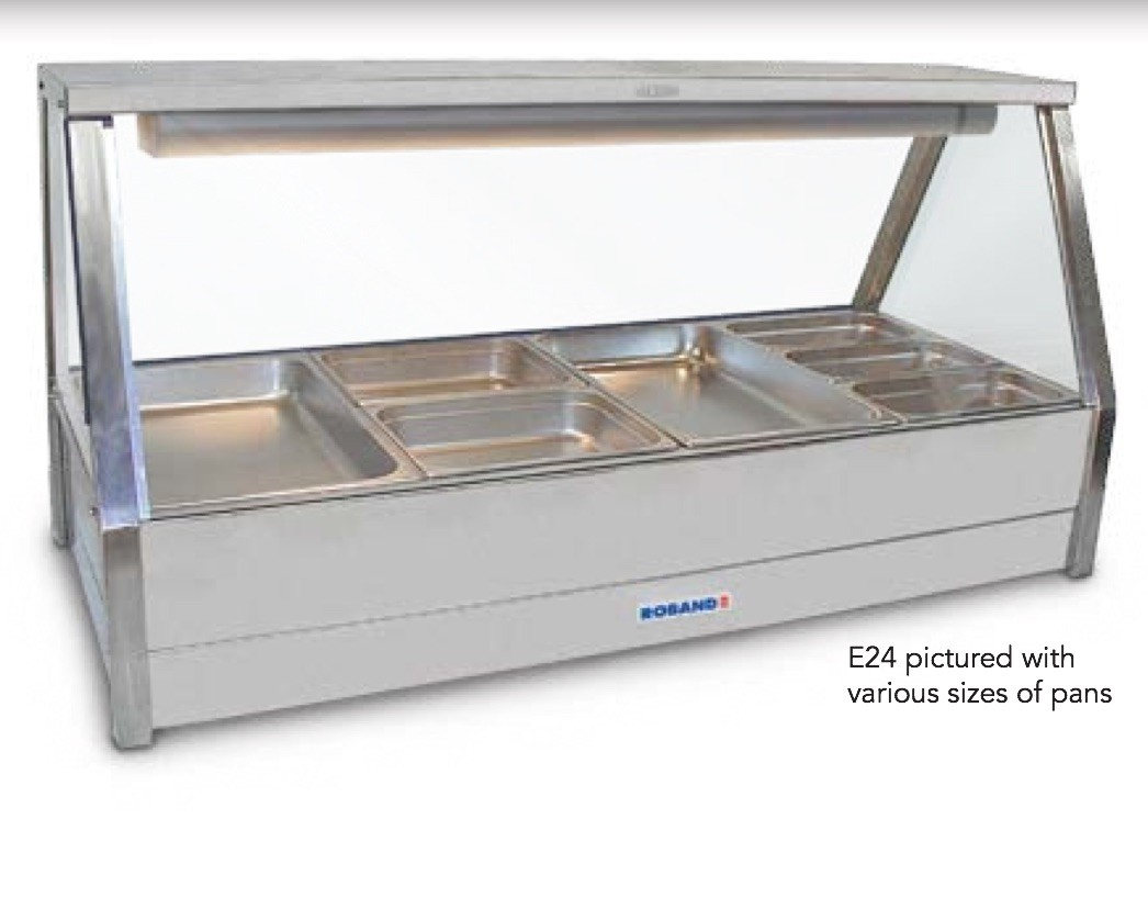 Image of Roband E23RD Hot Food Display With Rear Roller Doors 6 x 1/2 Size Pans 65mmD