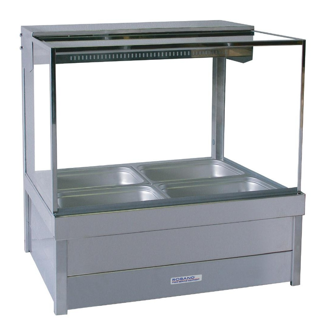 Roband S22 Hot Food Display Square Glass