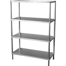 Simply Stainless 4 Tier S/S Shelving Adjustable 1500mm