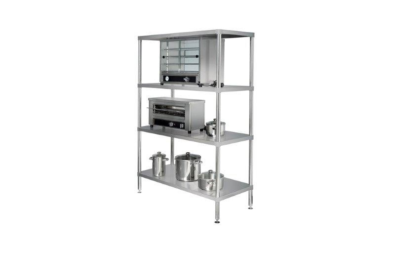 Image of Simply Stainless 4 Tier S/S Shelving Adjustable 1200mm
