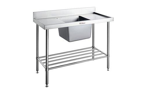 Image of Simply Stainless 600 Series Sink Bench Right Bowl With Splashback