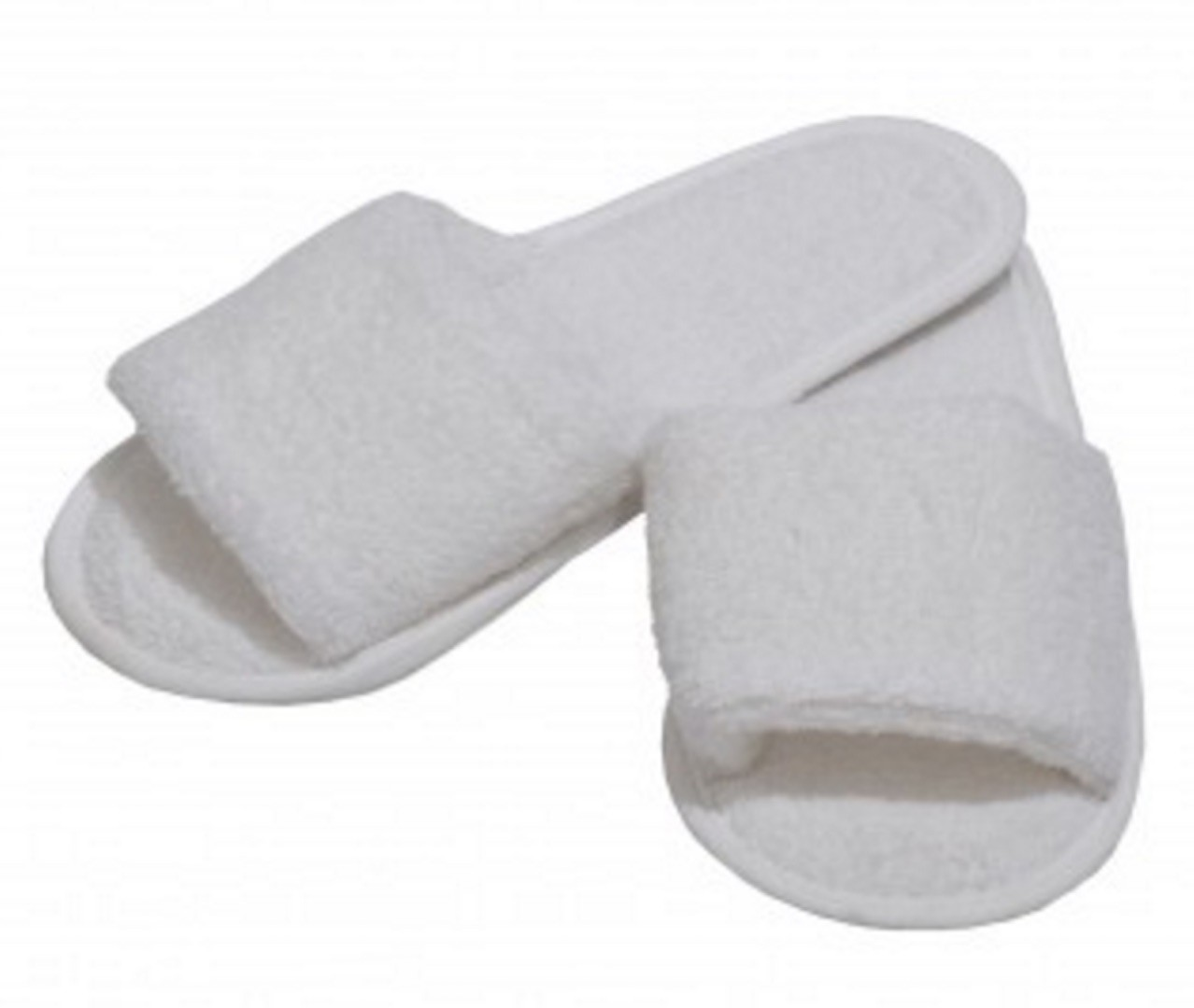 Image of Alliance Slippers Plain Terry White