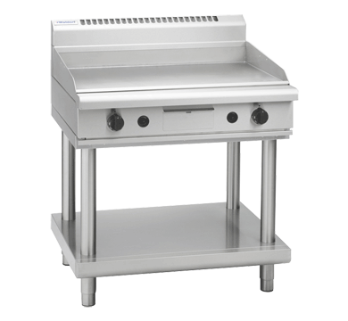 Waldorf 800 Series GP8900G-LS Griddle 900mm On Leg Stand *Nat Gas*