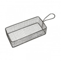 Serving Basket Rectangular S/S Wire Handle 220 x 100 x 60mm 6/Ctn