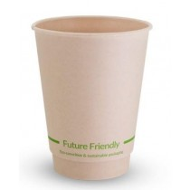Future Friendly 12DWCPBAM Double Wall Hot Drink Cup 12oz Natural 25/Pkt