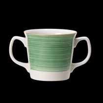 Steelite Rio Double Handled Mug Green 285ml