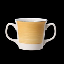 Steelite Rio Double Handled Mug Yellow 285ml
