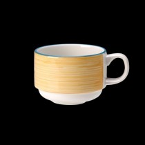 Steelite Rio Stackable Slimline Cup Yellow 200ml