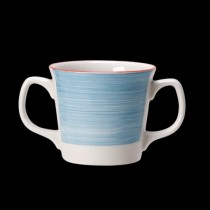 Steelite Rio Double Handled Mug Blue 285ml