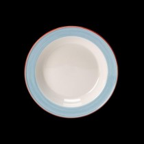 Steelite Rio Slim Soup Plate Blue 215mm