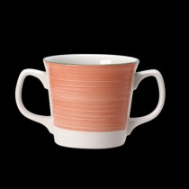 Steelite Rio Double Handled Mug Pink 285ml