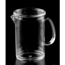 Image of Polycarb Jug Straight Sided 1Ltr With Lid