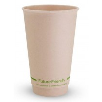 Future Friendly 16DWCPBAM Double Wall Hot Drink Cup 16oz Natural 25/Pkt