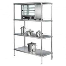 Simply Stainless 4 Tier S/S Shelving Adjustable 900mm