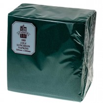 Caprice 2ply Lunch Napkin Pine Green