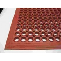 Image of Mat Safety Red Anti Grease/Oil 1500L x 900W x 13mmH