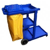 Image of Trolley Janitors Cart Blue