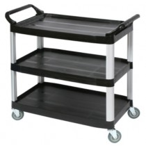 Image of Trolley Utility Black 3 Shelf