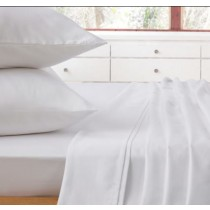 Comfort Collection Flat Single Sheet White