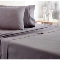 Comfort Collection Flat Single Sheet Charcoal