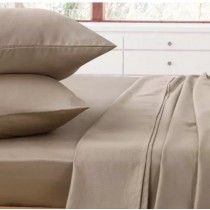 Comfort Collection Flat King Single Sheet Latte
