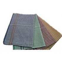 Image of Alliance Tea Towel Cotton Check Pattern Ass. Colours