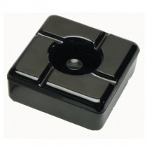 Image of Ashtray Windless Square Black Melamine 113 x 113 x 52mm