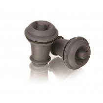 Image of Wine Bottle Stoppers Vacu Vin Grey Suits 20131 Pump