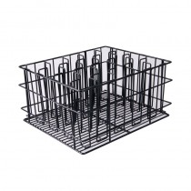 Image of Glass Basket PVC Black 20 Compartment 435 x 355 x 215mm