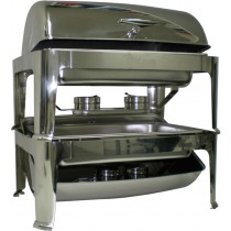 Image of Chafing Dish S/S Stackable Rectangular Roll Top