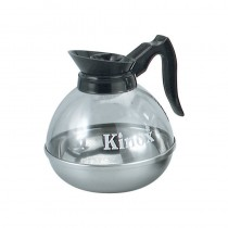 Image of Coffee Decanter Glass Kinox S/S Base Plastic Lip 2ltr