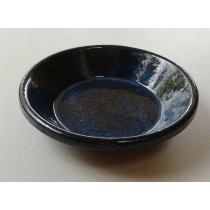 Image of Tapas/Garlic Prawn Ceramic Dish 150mm Blue Glazed