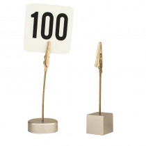 Image of Table Number Card Holder Clip Style Square Base 100mm