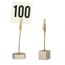 Image of Table Number Card Holder Clip Style Round Base 100mm