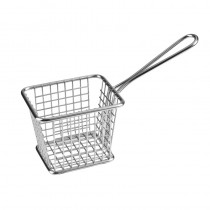 Image of Athena Mini Fry/Service Basket Rectangular S/S 200 x 78 x 120mm