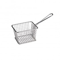 Image of Athena Mini Fry/Service Basket Rectangular S/S 220 x 98 x 128mm