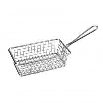 Image of Athena Mini Fry/Service Basket Rectangular S/S 260 x 102  x 80mm