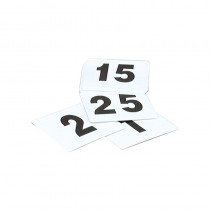 Image of Table Number Set 1-25 Plastic Black On White