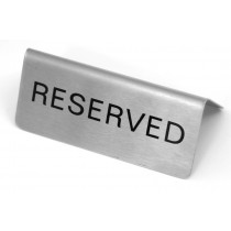 Image of Table Reserve Sign S/S