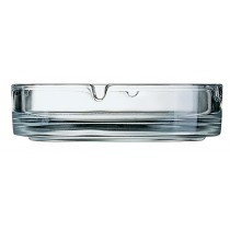Ashtray Glass Stackable Round 107mm Clear 6/Pkt (4)